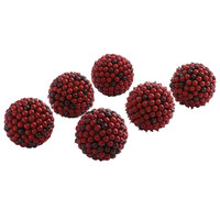 "5"" Red Berry Ball (Set of 6)"