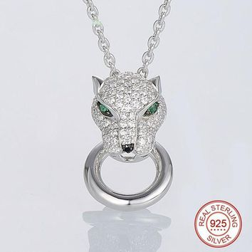 Panther Spinels Necklace 925 Sterling Silver