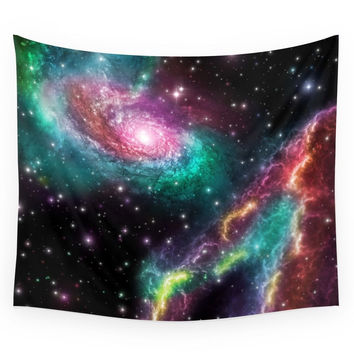 Society6 Colorful Nebula 080615 Wall Tapestry