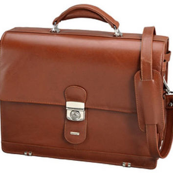 Handbag , Aktentasche, Briefcase, Messenger, Bag, Leather, cognac - color