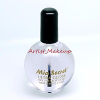 Mia Secret Ultra Gloss Dry Fast Top Coat Size: 0.5 oz, 2.5 oz - Made in USA