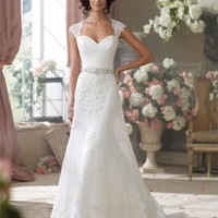 David Tutera for Mon Cheri bridal dress Flo 214204 is part of the 2014 collection of David Tutera Wedding dresses and Bridal gowns.