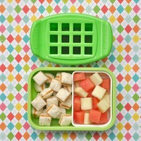 FunBites Shaped Food Cutter Set, Green/Pink