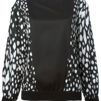 Fausto Puglisi contrasting printed panels blouse