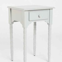 Spool Side Table- Grey One