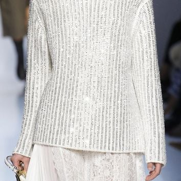 Morning Glow Beaded Long Sleeve Turtleneck Pullover Sweater - 2 Colors Available