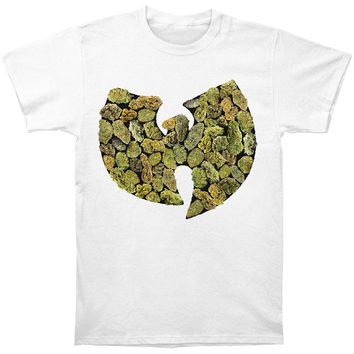 Wu Tang Clan Men's  Pot Leaf Logo Mens T T-shirt White