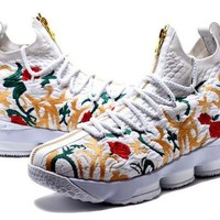 PEAP Nike LeBron James 15 XV Flower Basketball Shoe US7-12