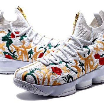 DCCK Nike LeBron James 15 XV Flower Basketball Shoe US7-12