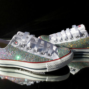 Wedding, Bride, Bridesmaid, sweet 16, Quinceanera, Crystal Converse handmade (Including Shoes)