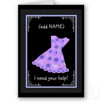 CUSTOM NAME Flower Girl PURPLE Dress Greeting Cards from Zazzle.com