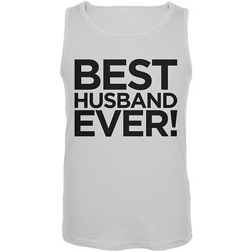 Best Husband Ever White Mens Tank Top