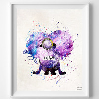 Despicable Me Print, Purple Minion Poster, Evil Minions Print, Watercolor Art, Illustration, Nursery Room Decor, Fathers Day Gift