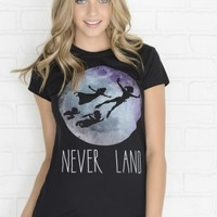 Black Never Land t-shirt