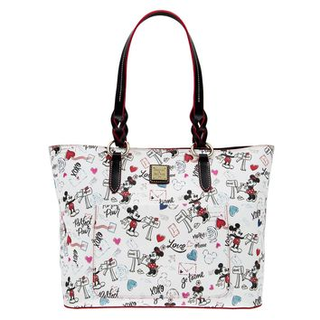 Disney Mickey & Minnie Sweethearts Tote by Dooney & Bourke New with Tags
