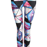 Jasmine Geometric Print Leggings