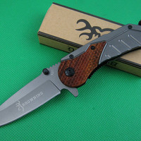Browning x31 Fast open folding knife 440C Blade pocket rescue knife outdoor camping survival knife