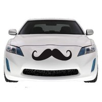 "Mustache Car Decal SET OF 2, Vinyl Sticker 22"" BLACK"
