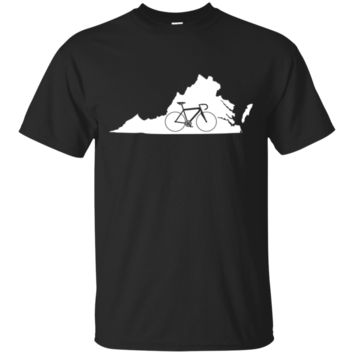 Bicycle Virginia T-Shirt, Cyclist Apparel, State Road Bike