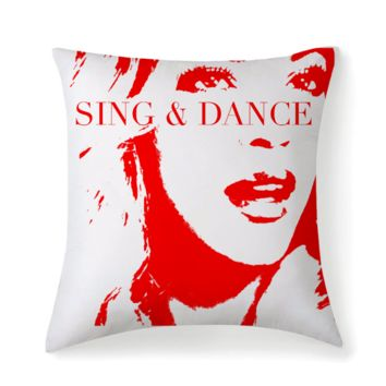 Beyonce Inspired Pillow - Premium Microfiber Fabric Throw Square
