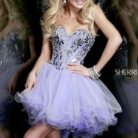 Embellished Mini Dress by Sherri Hill
