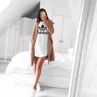Fashion Online Adidas Originals High Neck Tunic Dress With Trefoil Logo