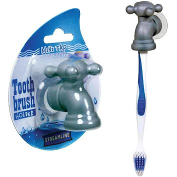 Toothbrush Holder - Suction Cup Mini Tap