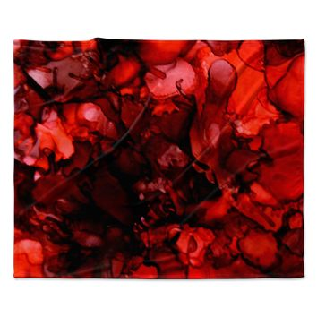 "Claire Day ""Dark Red"" Maroon Fleece Throw Blanket"