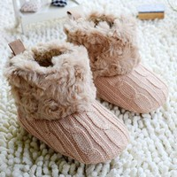 Baby Shoes Toddler Girl Fur Winter Plush Boots 7 Colors