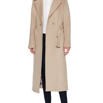 Soia & Kyo Women's Rebecca Wool Long Coat - Cream/Tan -
