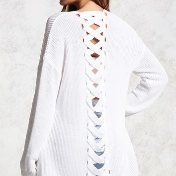 Contemporary Lace-Up Cardigan