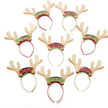 reindeer headbands characters Case of 8