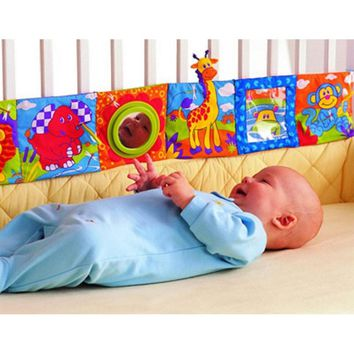 Baby Kids Toys Bumpers Baby Cloth Book Knowledge Around Multi-touch Multifunction Fun Double Color Colorful Bed Bumper