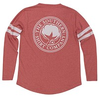 Heather Jersey Long Sleeve Tee Shirt in Chrysanthemum Red by The Southern Shirt Co. - FINAL SALE