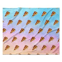 "Juan Paolo ""Lucid Pizza"" Food Pattern Fleece Throw Blanket"