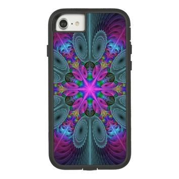 Mandala From Center Colorful Fractal Art With Pink Case-Mate Tough Extreme iPhone 8/7 Case