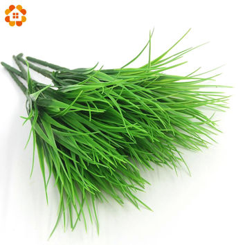 1PCS New Green Grass Artificial Plants For Plastic Flowers For Office Hotel Home Wedding Party Dining Table Decoration