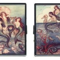 Sold Out - Retro Cigarette Case - Vintage Mermaid Illustration  Retro Cigarette & ID Case $29
