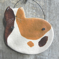 Calico Cat Salt Dough Ornament