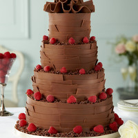 Milk Chocolate Ribbons Wedding Cake | M&S
