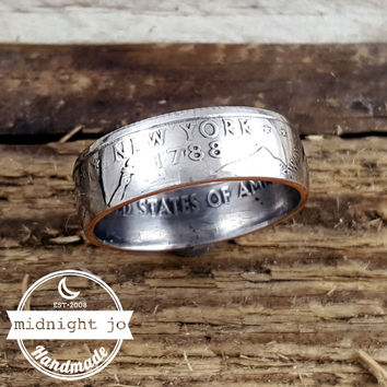 New York State Quarter Coin Ring