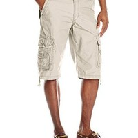 Men's Cotton Short Cordova Belted Cargo Short Messenger - Reg and Big & Tall Sizes