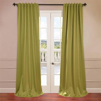 Half Price Drapes BOCH-201405-108 Green 108 x 50-Inch Blackout Curtain Panel Pair