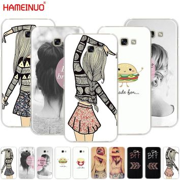 HAMEINUO Best Friends Emoji cell phone case cover for Samsung Galaxy A3 A310 A5 A510 A7 A8 A9 2016 2017 2018
