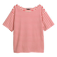 H&M - Striped Top - Orange/Striped - Ladies