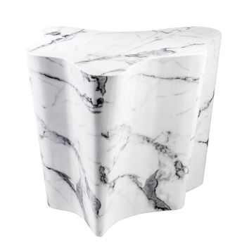 White Marble Side Table | Eichholtz Sceptre