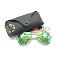 Cheap Ray-Ban Aviator RB 3025 112/P9 Polarized Sunglasses Gold w/Green Lens 58-14 135