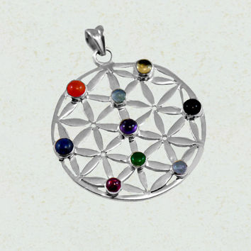 Symphony Chakra Pendant in Sterling Silver