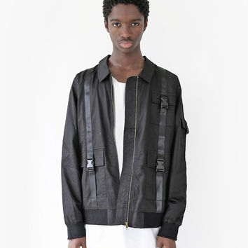 Lone Sentry Strap Jacket in Black