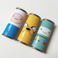 Adventure Time Character Metal Lighter Case Finn the Human, Jake the Dog & BMO